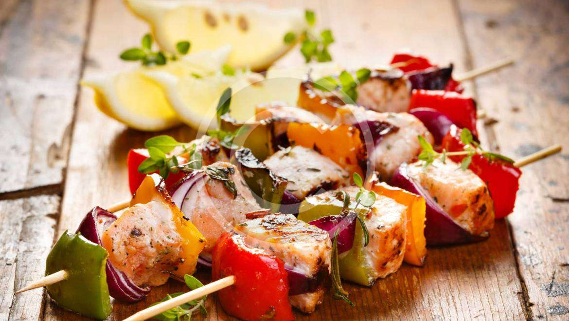 Fish Kebab with Vegetables